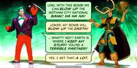 PopFig toy comic with Joker and Loki.