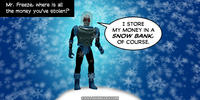 PopFig toy comic with Mr. Freeze.