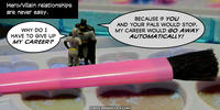 PopFig toy comic with Catwoman and Batman.