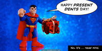 PopFig toy comic with Superman.