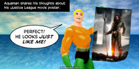 PopFig toy comic with Aquaman.
