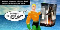 PopFig toy comic with Aquaman.