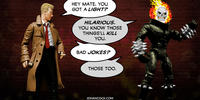 PopFig toy comic with John Constantine and Ghost Rider.
