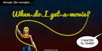 PopFig toy comic with Wonder Girl.