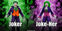 PopFig toy comic with Joker and Joke-Her.