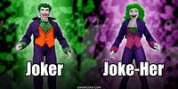 PopFig toy comic with Joker and Joke-Her.
