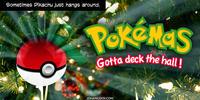 PopFig toy comic with a Pokemon ball on a Christmas tree.