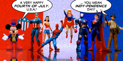 Happy Indy-pendence Day toy comic
